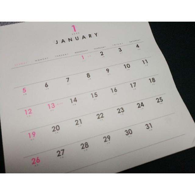2020年 シンプル カレンダー 壁掛けカレンダー 正方形 ホワイト_画像2
