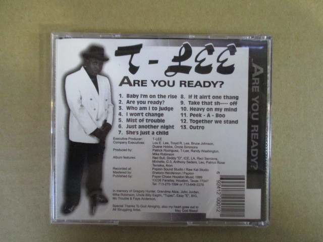 【G-RAPマニア放出¥500~!!】 T-LEE / ARE YOU READY_画像2