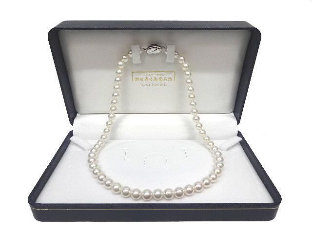 アコヤ真珠 花珠 パール ネックレス 約7.5-8.0mm SV金具 真珠科学研究所鑑定書付き テリ最強 最高品質_画像1