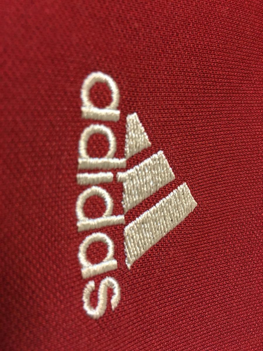 人気の赤◆刺繍■adidas アディダス ジャージ  トップス