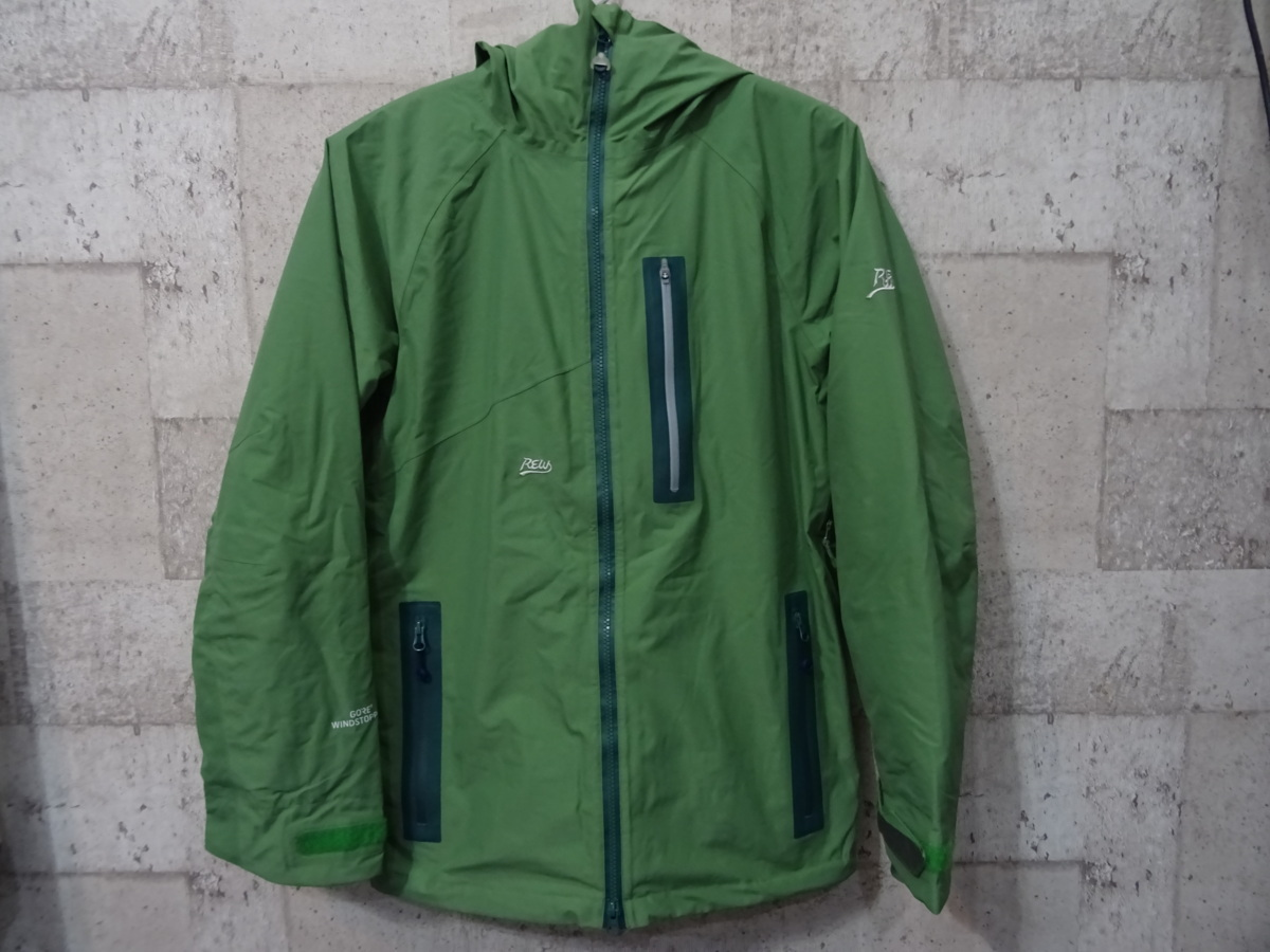 17-18 REW KAMIKAZE F+LIGHT JACKET GORE ゴア S ARMY 中古_画像1
