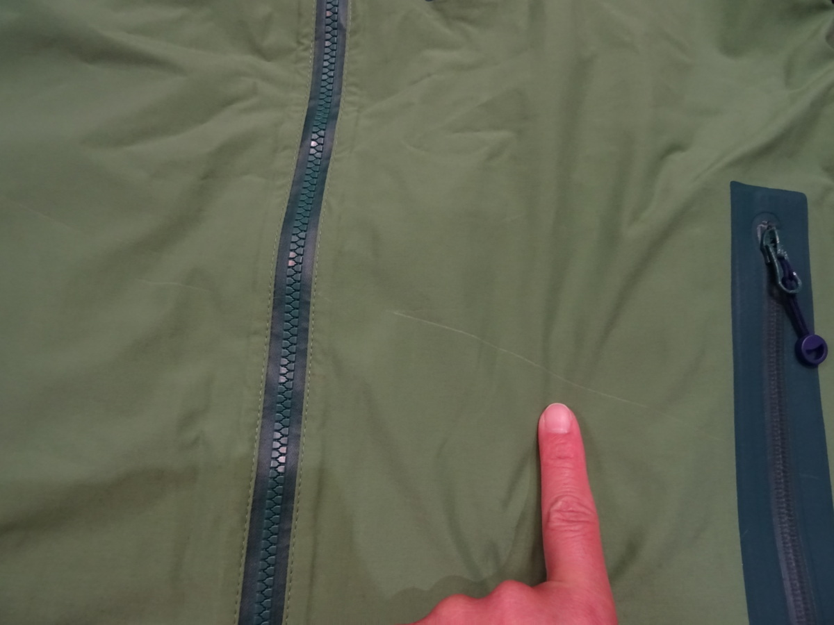 17-18 REW KAMIKAZE F+LIGHT JACKET GORE ゴア S ARMY 中古_スレです