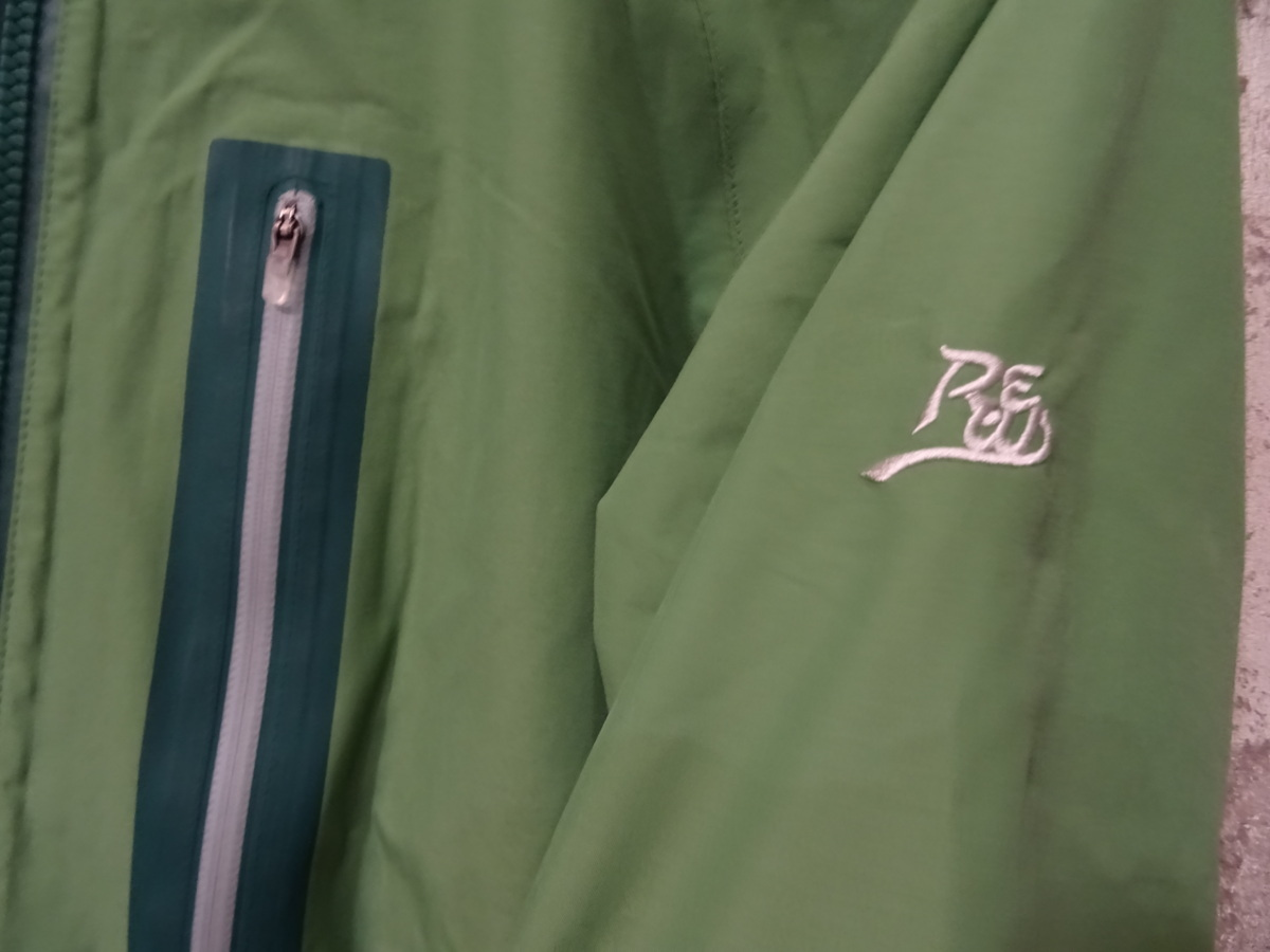 17-18 REW KAMIKAZE F+LIGHT JACKET GORE ゴア S ARMY 中古_画像9