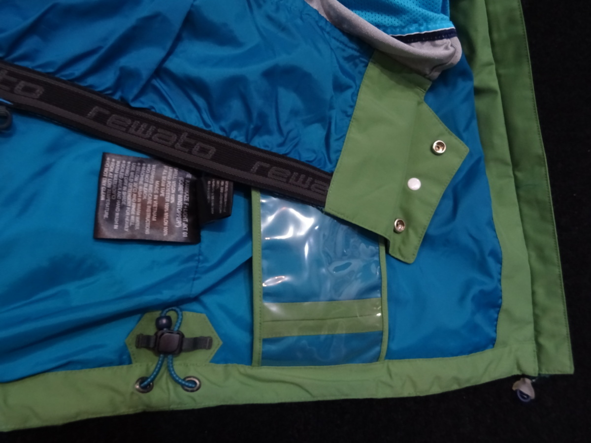 17-18 REW KAMIKAZE F+LIGHT JACKET GORE ゴア S ARMY 中古_画像5