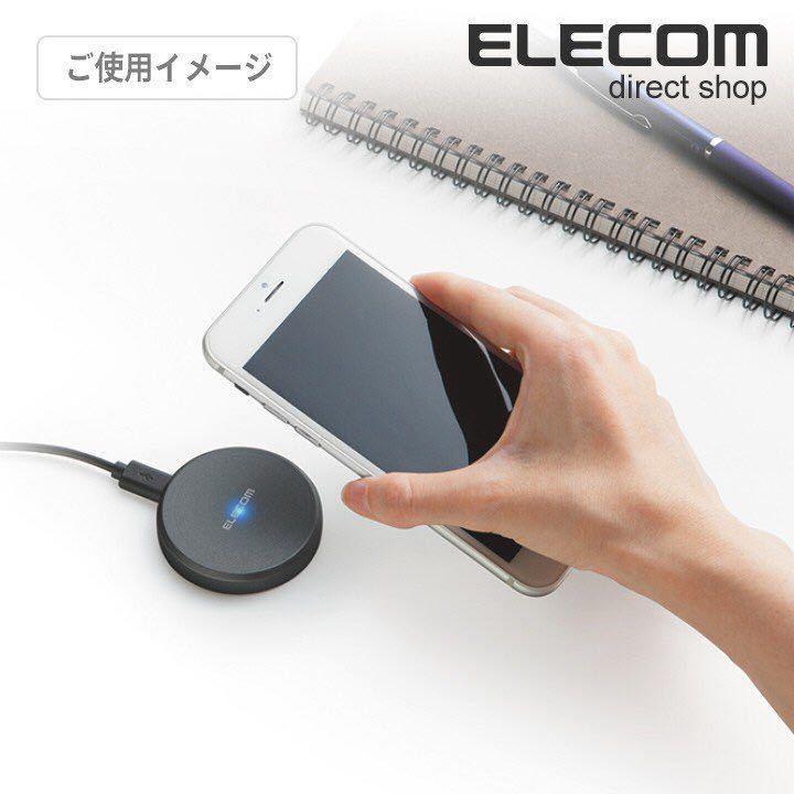 ☆Qi規格対応 ワイヤレス充電器 エレコム 無線充電器┃W-QA01BK_画像7