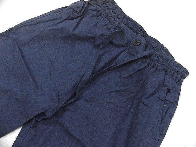 わけあり品 濃紺色地 綿100%・薄手無地生地 作務衣 Mサイズ 未使用品_画像7
