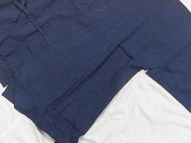 わけあり品 濃紺色地 綿100%・薄手無地生地 作務衣 Mサイズ 未使用品_画像5