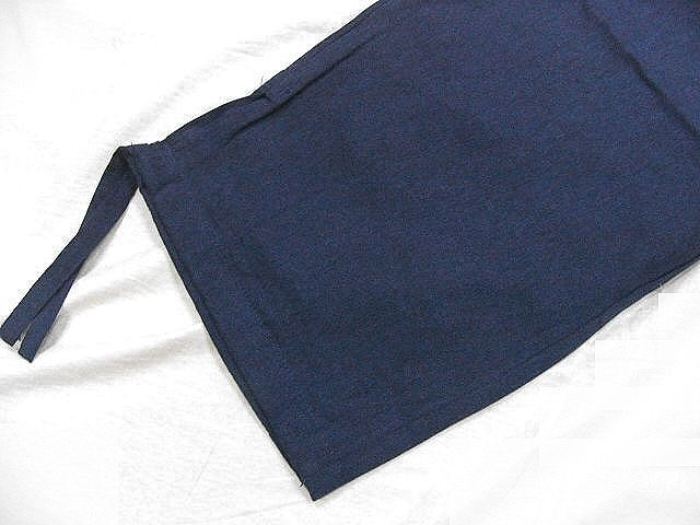 わけあり品 濃紺色地 綿100%・薄手無地生地 作務衣 Mサイズ 未使用品_画像8