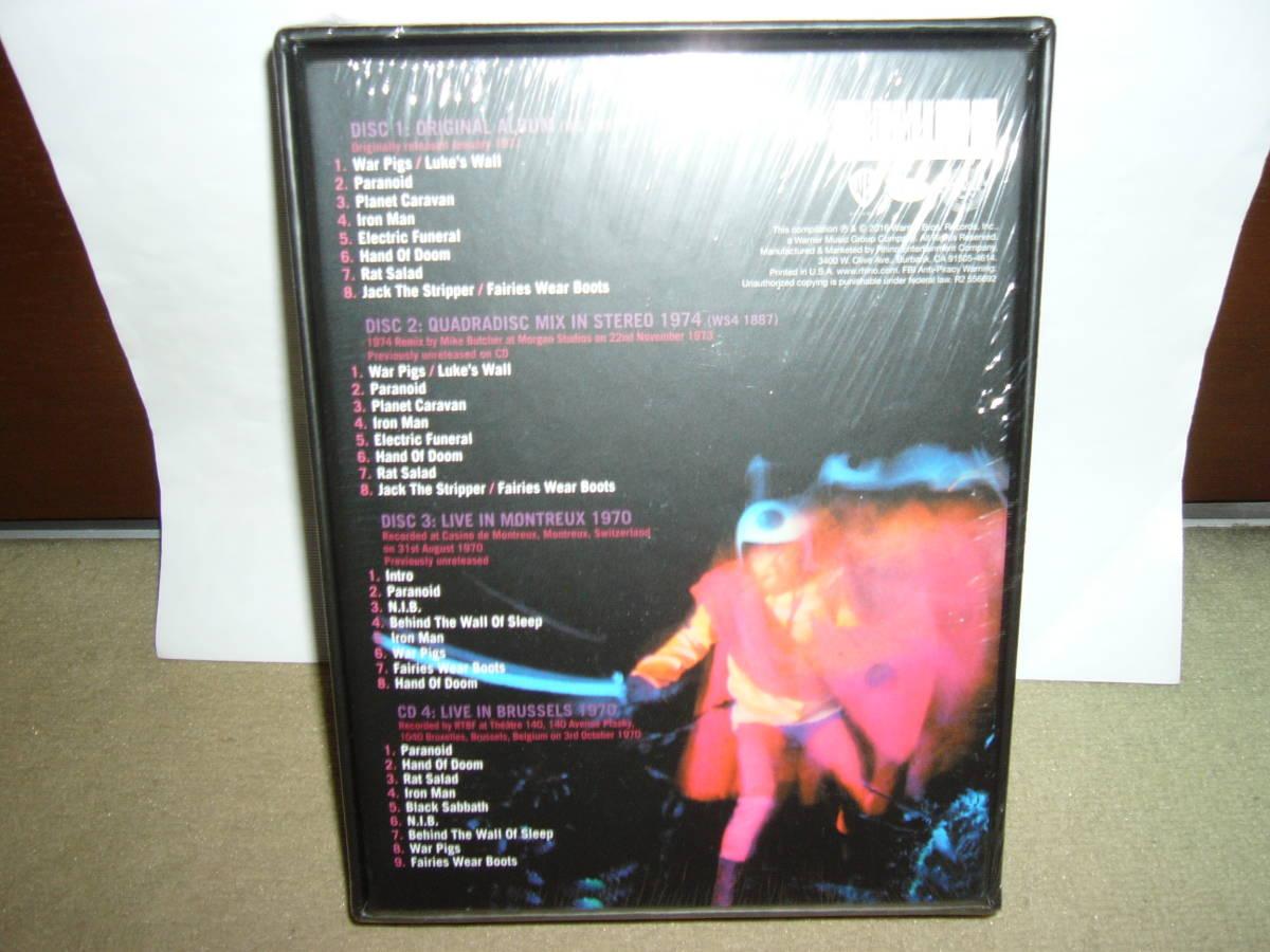 初期大傑作2nd「Paranoid」リマスター・アルバム別ヴァージョン及び未発表ライヴ二作含む四枚組BOX仕様限定盤 輸入盤未開封新品。_画像2