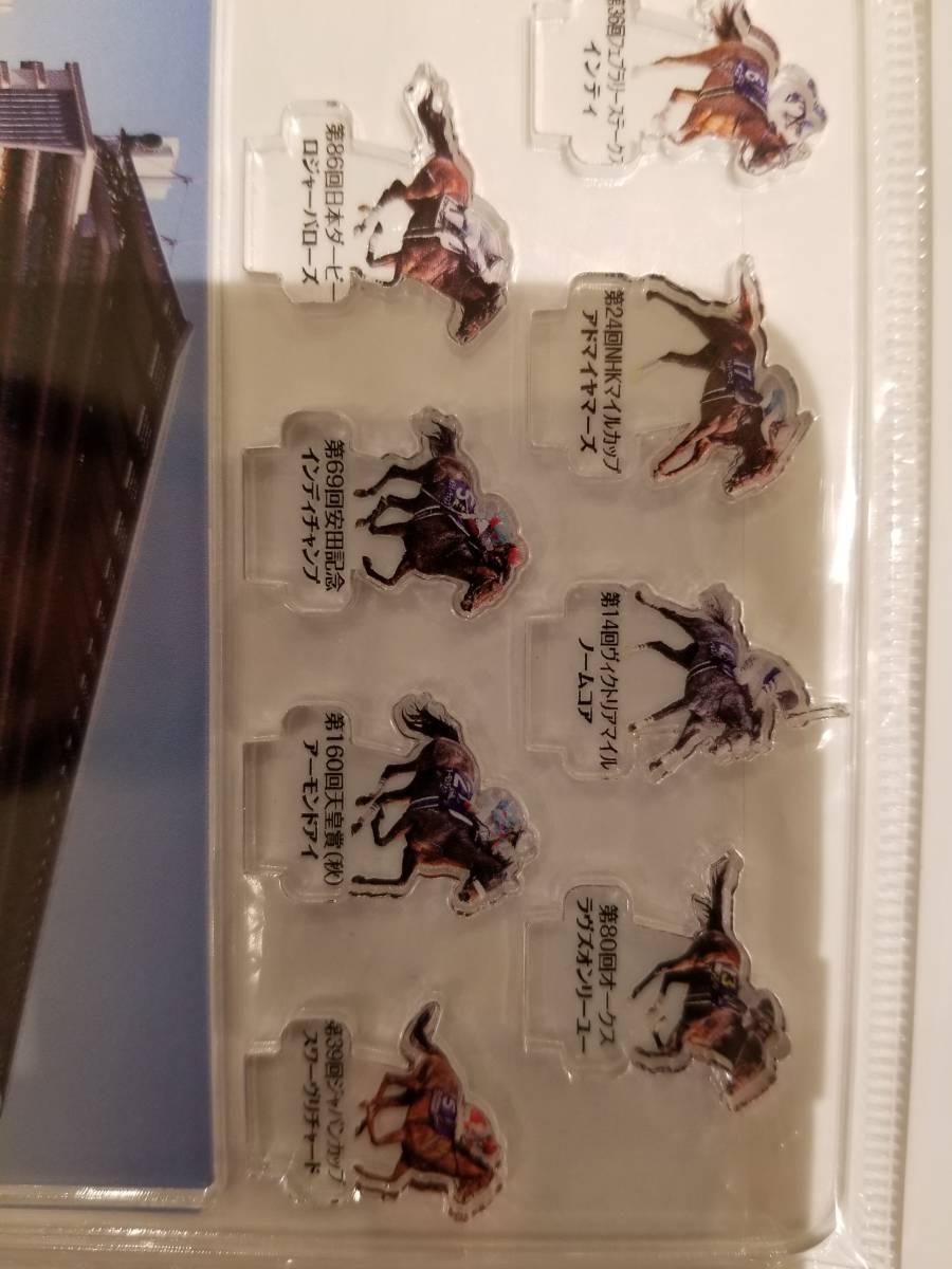 JRA 東京競馬場G1馬デザインアクリルプレートスタンドセット (アーモンドアイ他) 非売品_画像2