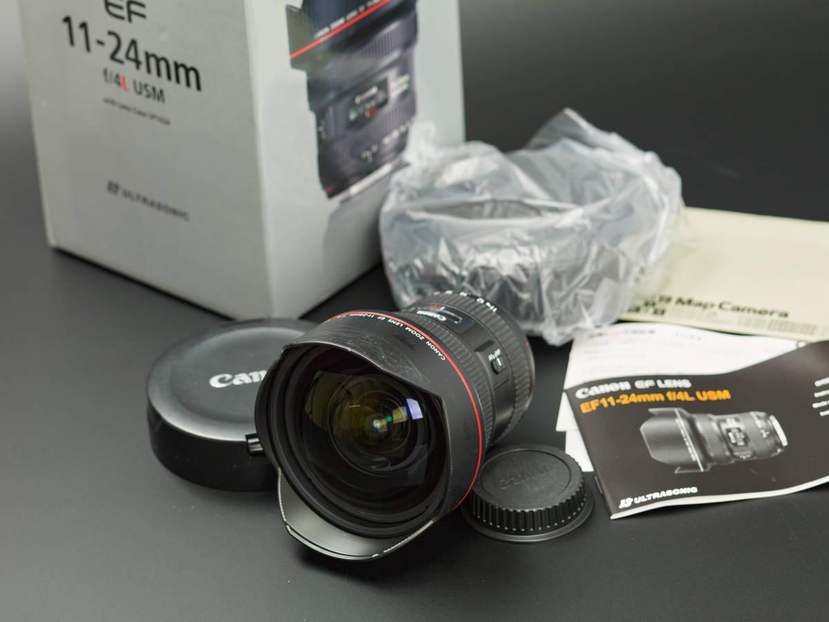 Canon EF11mm-24mm F4L USM 中古 東京都より著払いで。*即決は送料込みです。
