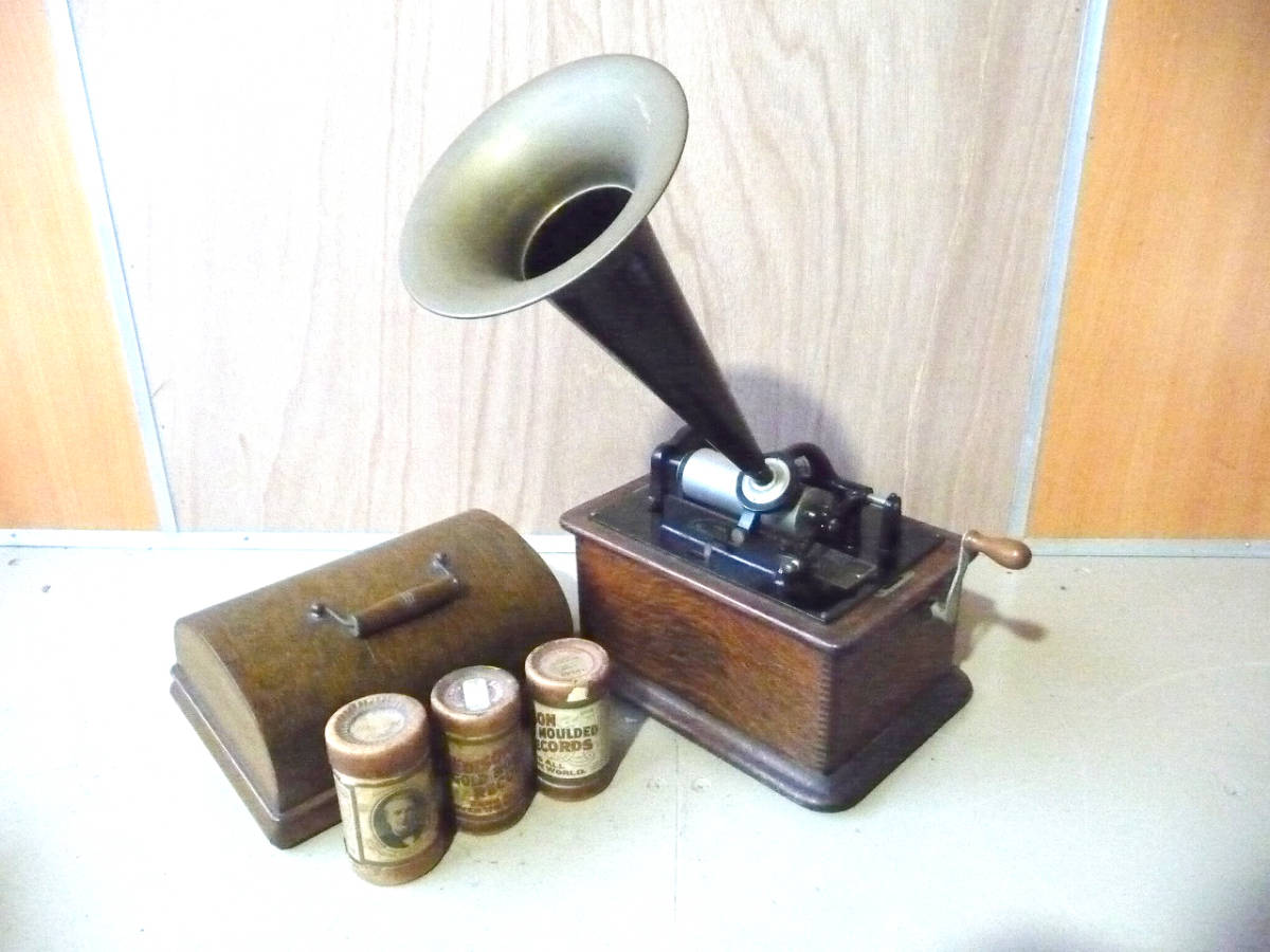 中古 蓄音機 EDISON STANDARD PHONOGRAPH エジソン スタンダード フォノグラフ ラッパ USA