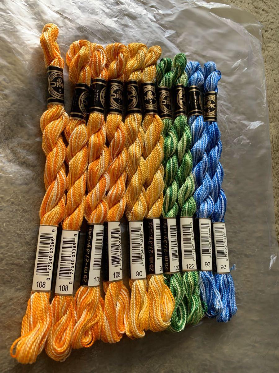 DMC刺繍糸、5番、10本、、、く