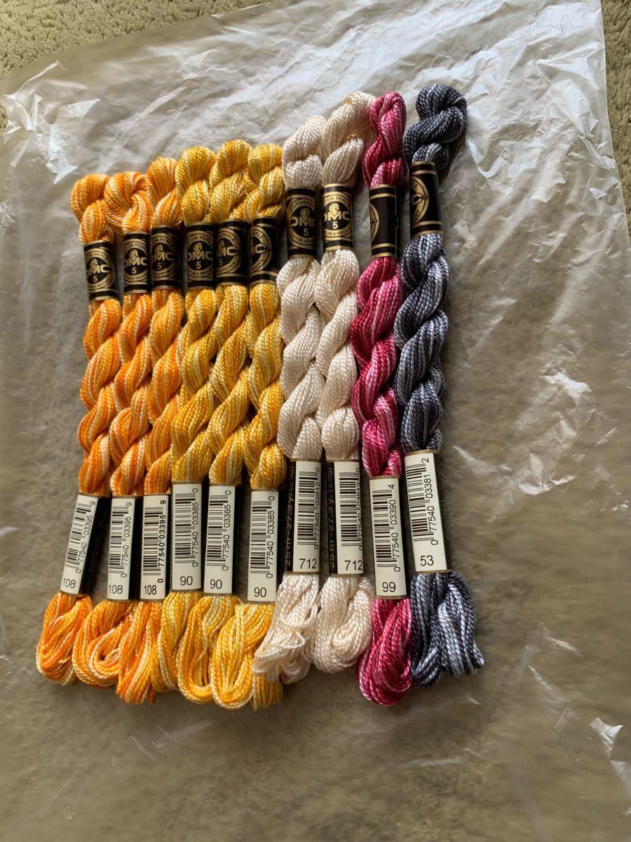 DMC刺繍糸、5番、10本、、、せ