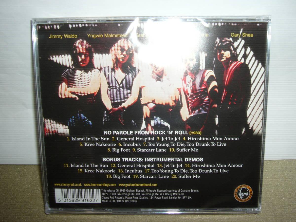 衝撃のデビュー作 Alcatrazz 傑作1st「No Parole From Rock'N'Roll」リマスター輸入盤 ボーナス楽曲付 未開封新品。_画像2