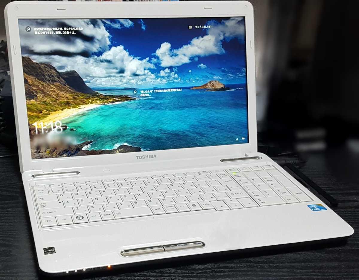 n27 綺麗☆起動約10秒(^o^)爆速大容量【Core i5 SSD新品512GB】dynabook Windows10 Office【即決メモリ8G 新品バッテリー Blu-ray 他特典】