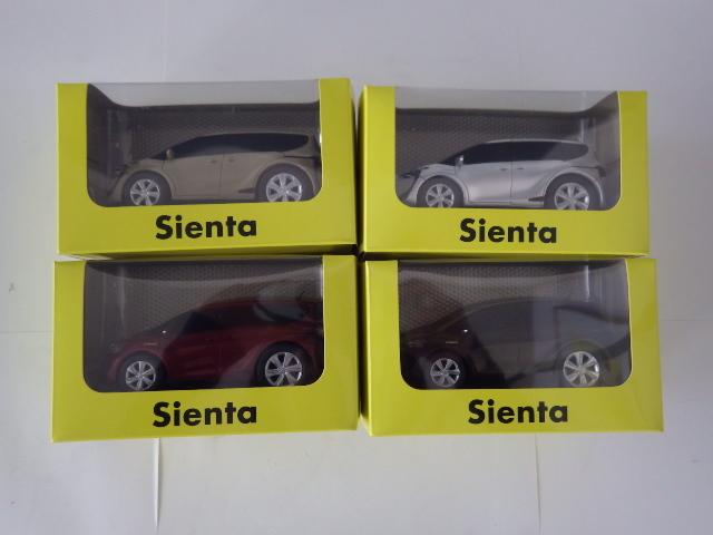 207【S.R】トヨタ シエンタ Sienta 非売品 サンプルミニカー 4色セット 展示品 香川発_画像1