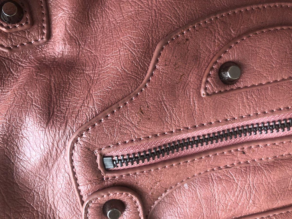 ピンク ショルダー ハンドバッグ  トートバッグ ハンドバッグ