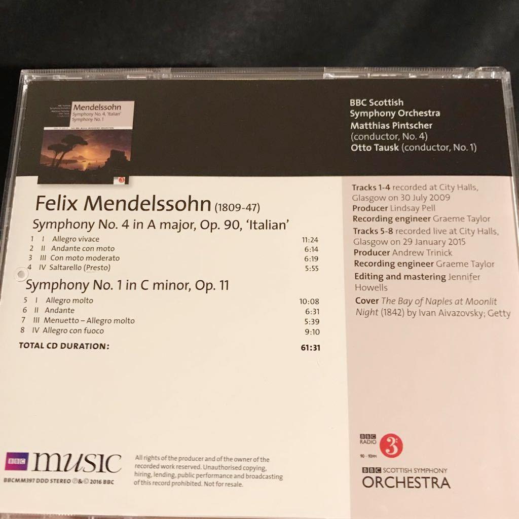 美品 BBC MUSIC MAGAZINE メンデルスゾーン 交響曲 4番 イタリア ピンチャー 2009 1番 タウスク 2015 LIVE BBCスコティッシュ交響楽団_画像2