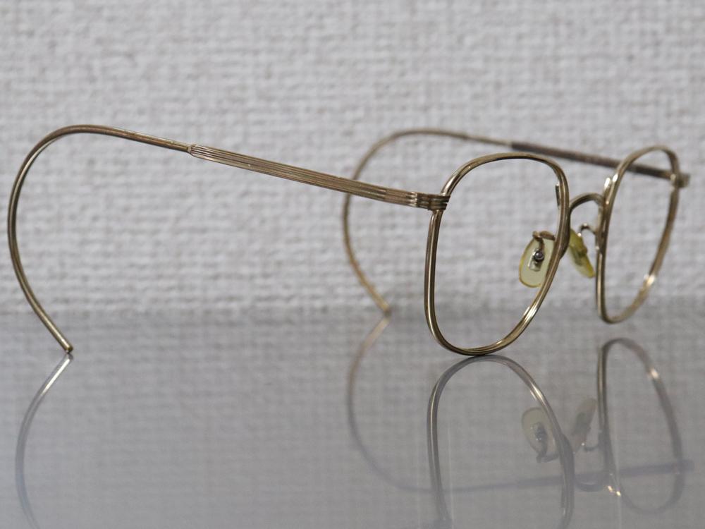レア☆1930年代 American Optical アメリカンオプティカル FUL-VUE フルビュー 希少アンティークゴールド メガネ ビンテージ眼鏡_画像5