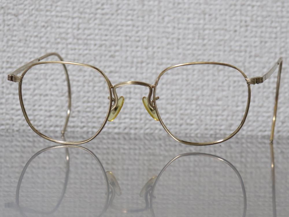 レア☆1930年代 American Optical アメリカンオプティカル FUL-VUE フルビュー 希少アンティークゴールド メガネ ビンテージ眼鏡_画像2