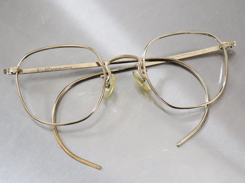 レア☆1930年代 American Optical アメリカンオプティカル FUL-VUE フルビュー 希少アンティークゴールド メガネ ビンテージ眼鏡_画像1