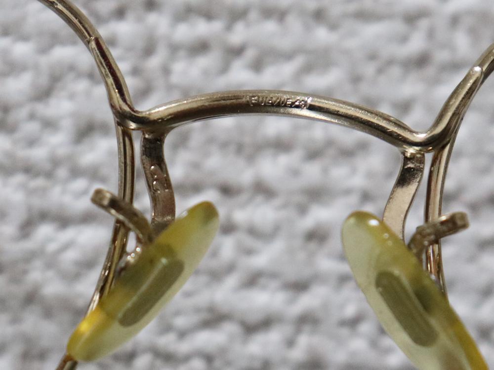 レア☆1930年代 American Optical アメリカンオプティカル FUL-VUE フルビュー 希少アンティークゴールド メガネ ビンテージ眼鏡_画像9