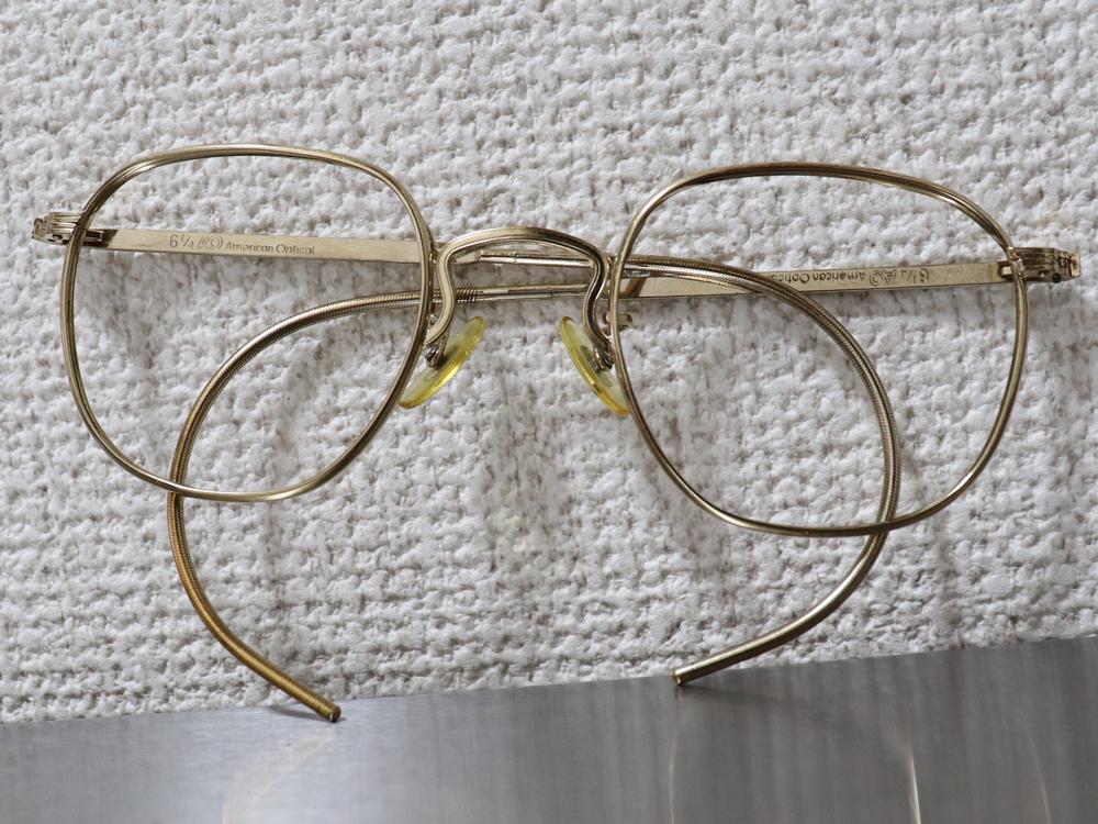 レア☆1930年代 American Optical アメリカンオプティカル FUL-VUE フルビュー 希少アンティークゴールド メガネ ビンテージ眼鏡_画像6