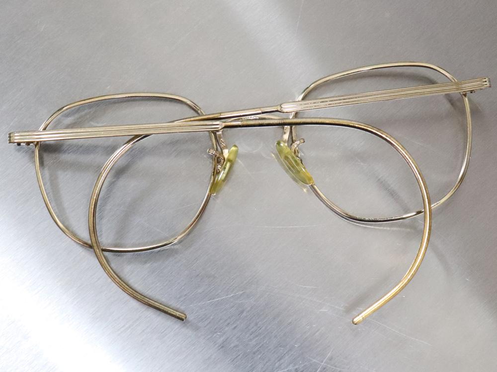 レア☆1930年代 American Optical アメリカンオプティカル FUL-VUE フルビュー 希少アンティークゴールド メガネ ビンテージ眼鏡_画像7