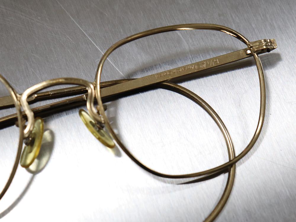 レア☆1930年代 American Optical アメリカンオプティカル FUL-VUE フルビュー 希少アンティークゴールド メガネ ビンテージ眼鏡_画像4