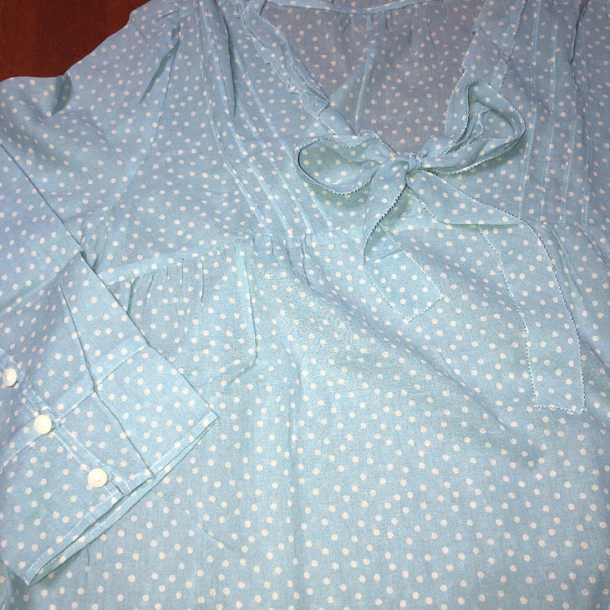 半袖ブラウス 半袖シャツ 水玉