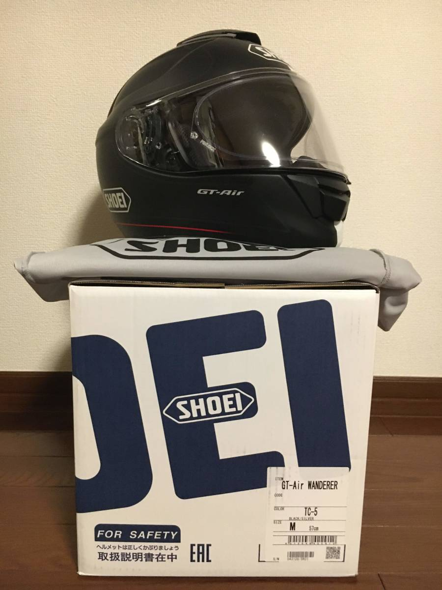 ショウエイ(SHOEI) バイクヘルメット フルフェイス GT-Air WANDERER Black/Silver M (57cm)