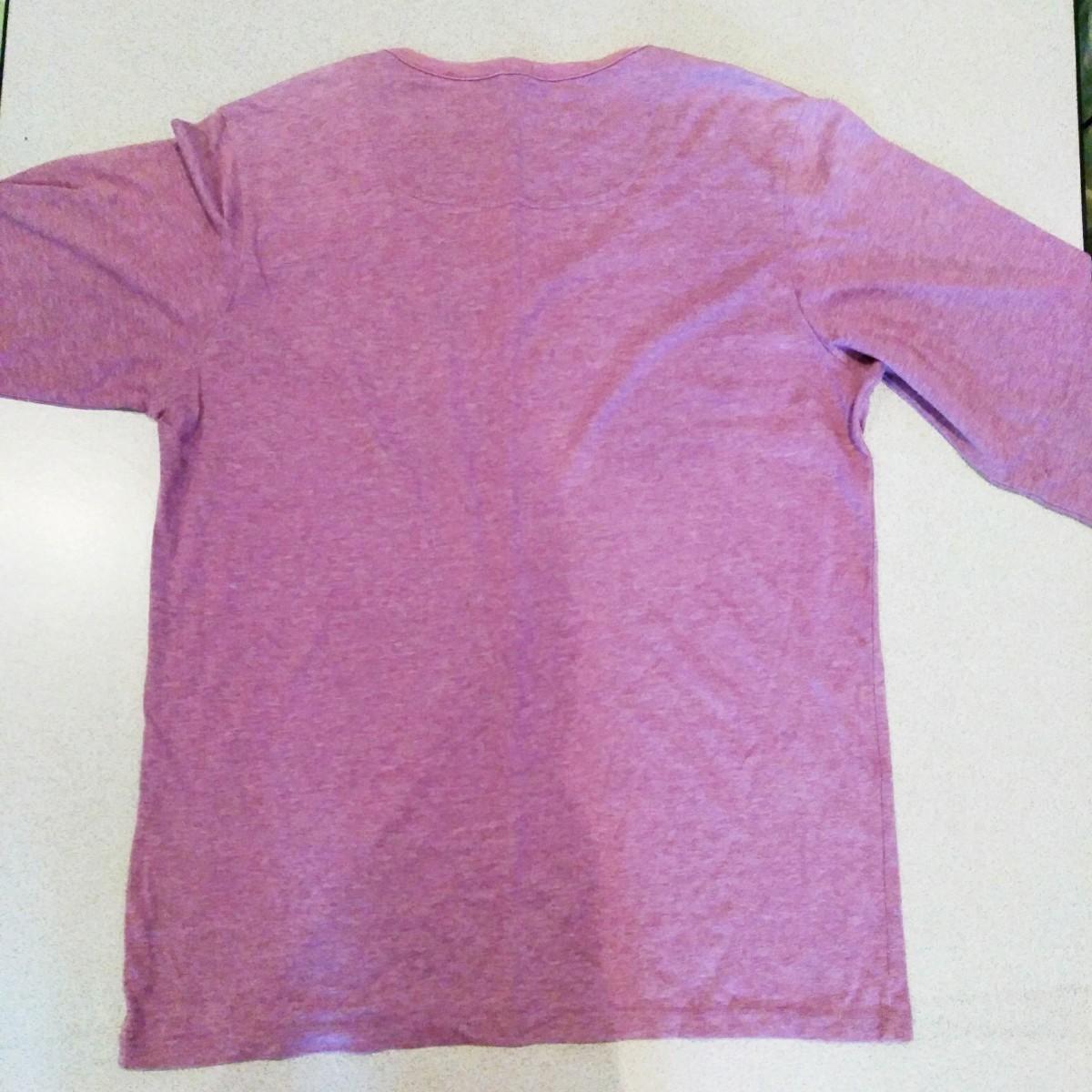 長袖シャツ カットソー  紫