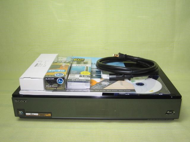 フラッグシップモデル【美品】◆SONY ブルーレイレコーダー BDZ-AX2000 高画質【CREAS Pro】搭載/新品リモコン・HDMI・純正電源ケーブル◆