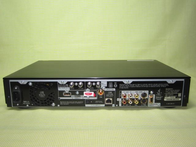 フラッグシップモデル【美品】◆SONY ブルーレイレコーダー BDZ-AX2000 高画質【CREAS Pro】搭載/新品リモコン・HDMI・純正電源ケーブル◆_画像9