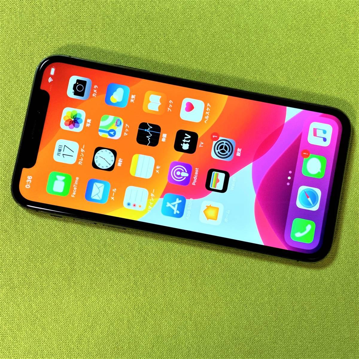 SIMフリー iPhone X スペースグレイ 256GB MQC12J/A iOS13.3.1 docomo 格安SIM MVNO 海外利用可能 アクティベーションロック解除済