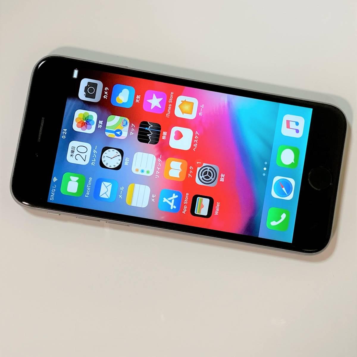 SIMフリー iPhone 6S スペースグレイ 64GB MKQN2J/A iOS12.4 docomo 格安SIM MVNO 海外利用可能 アクティベーションロック解除済