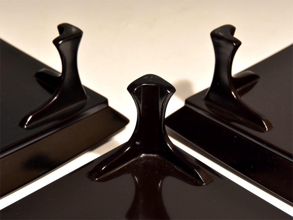 花唐草蒔絵 脚付膳(盆)3枚 懐石 天然木 本漆 漆器 漆芸 漆工芸 茶道具 茶懐石 美品 b7318n_画像7