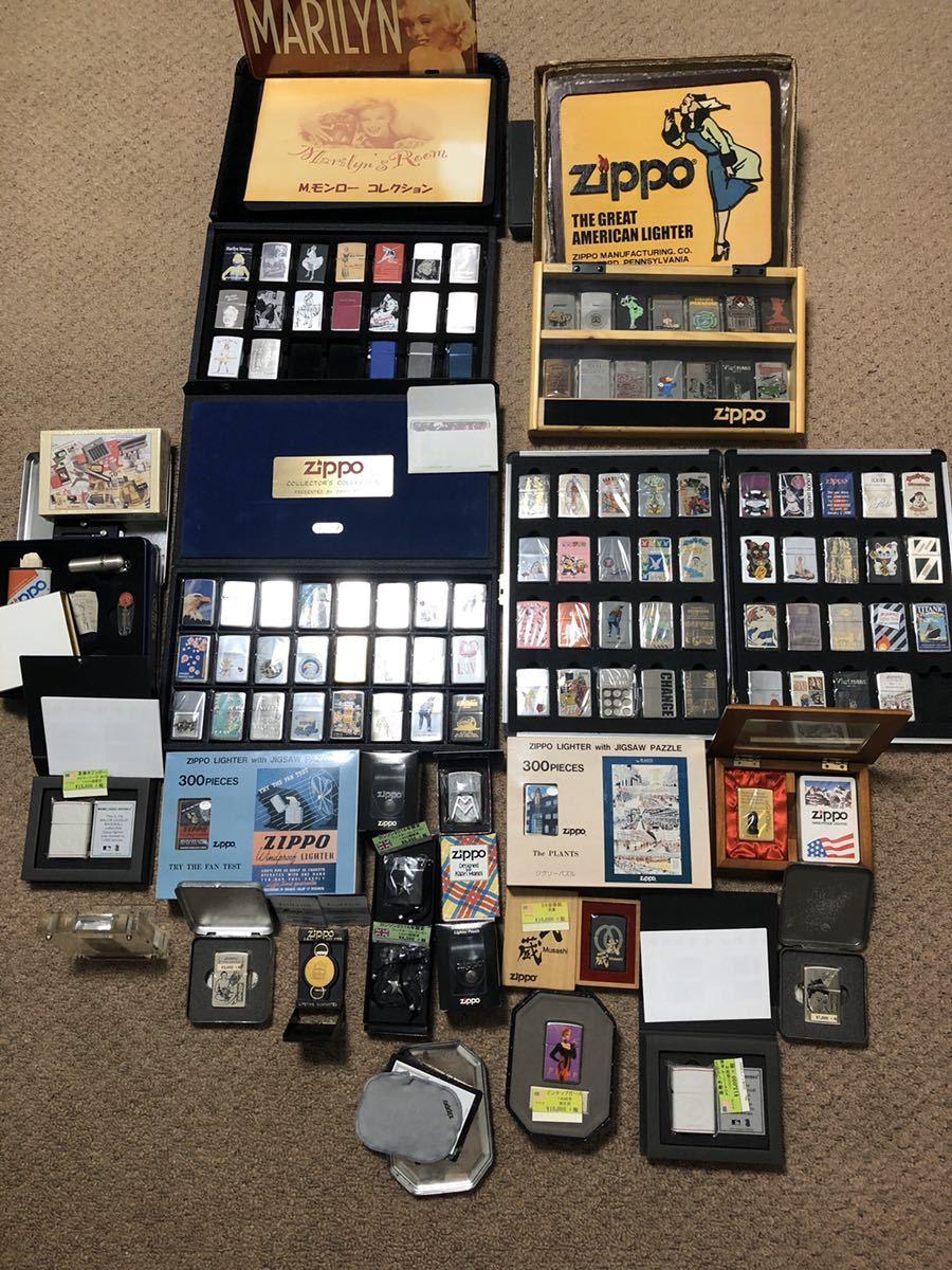 整理品 新品 未使用品 デッドストック品 Zippo ジッポ collector's collection コレクター コレクション 大量 まとめ 109點 限定品多數