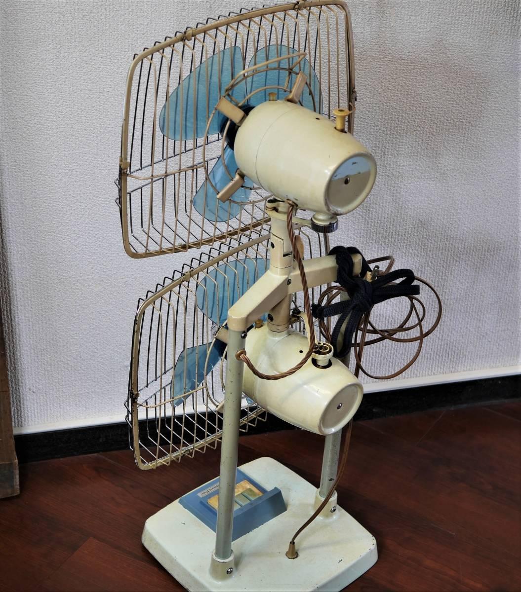 可動品!◆ FUJI 2連式 扇風機 希少 レトロ 当時物【Silent Pair】アンティーク_画像5