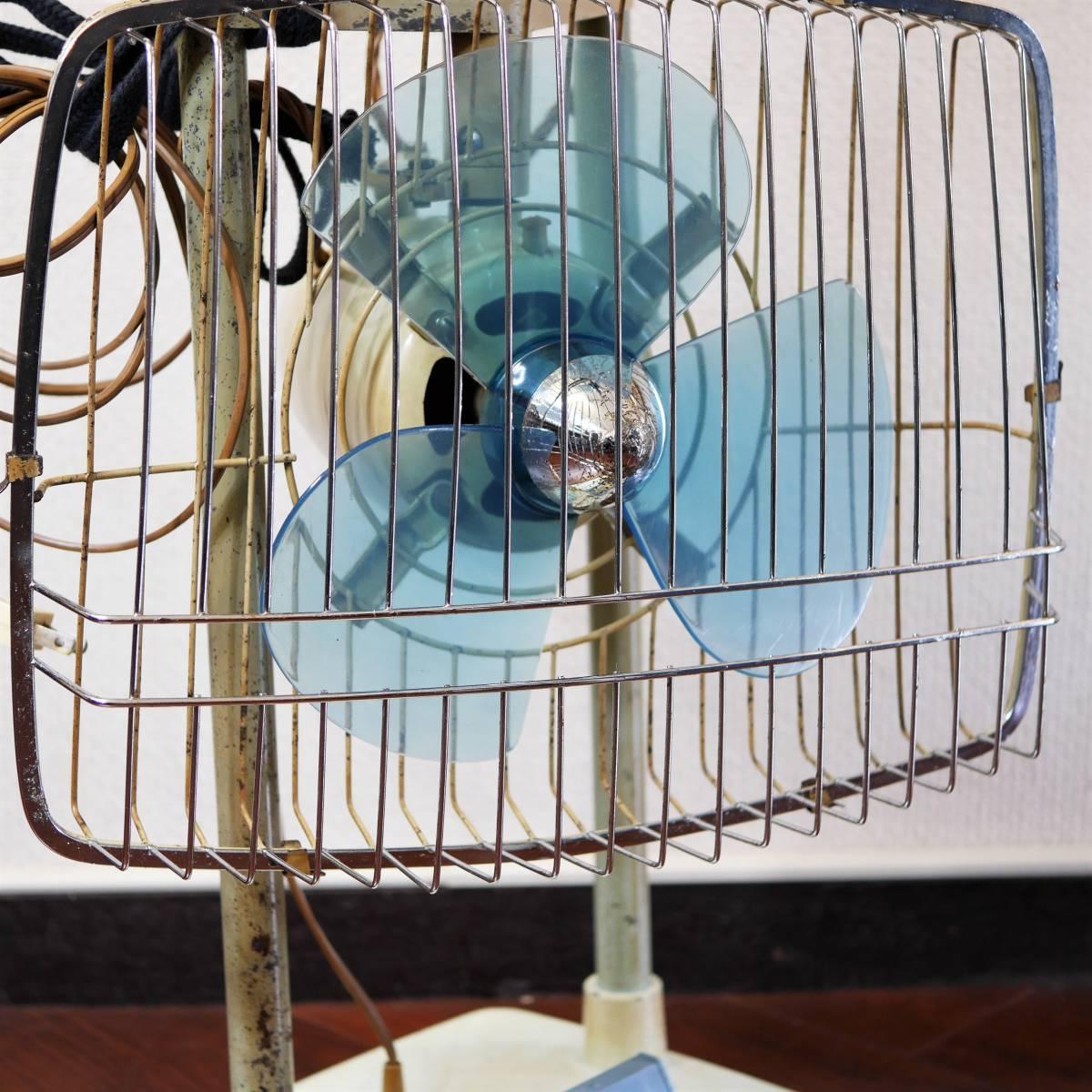 可動品!◆ FUJI 2連式 扇風機 希少 レトロ 当時物【Silent Pair】アンティーク_画像4