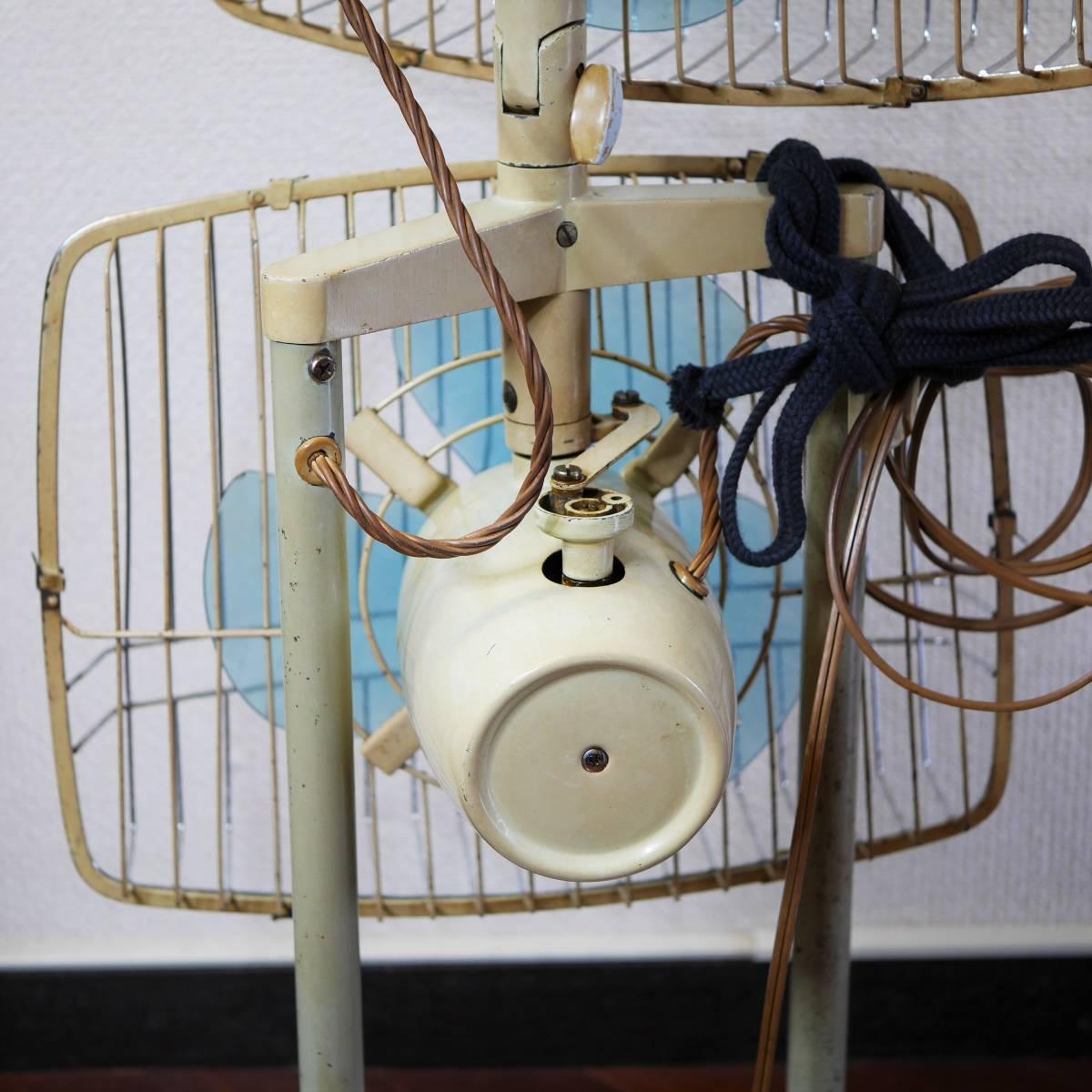 可動品!◆ FUJI 2連式 扇風機 希少 レトロ 当時物【Silent Pair】アンティーク_画像7