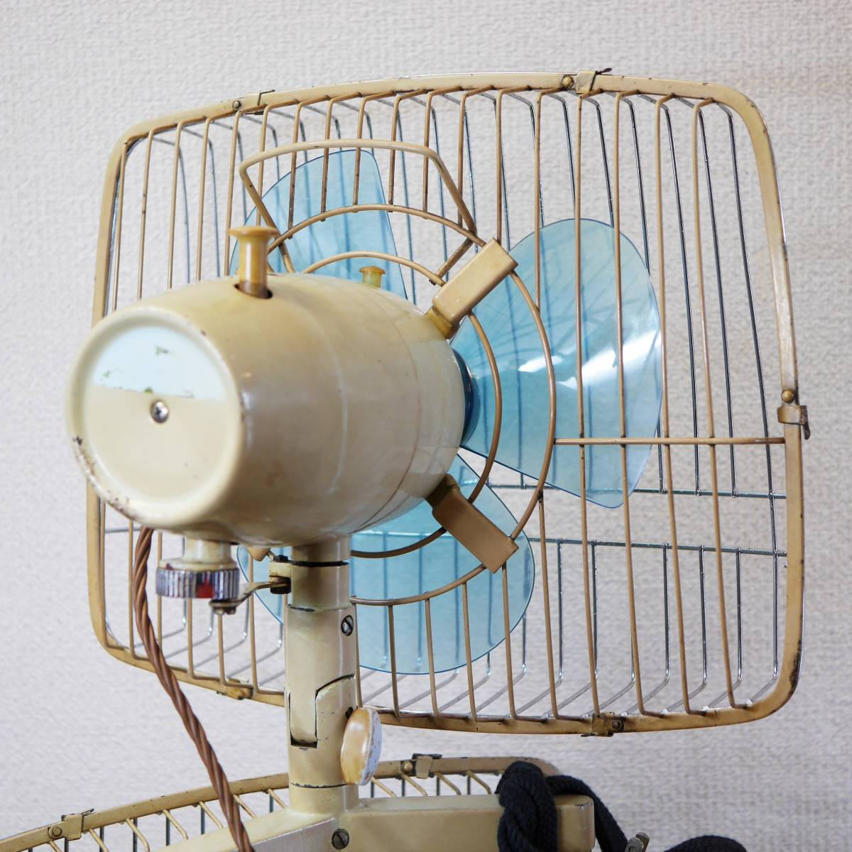 可動品!◆ FUJI 2連式 扇風機 希少 レトロ 当時物【Silent Pair】アンティーク_画像6