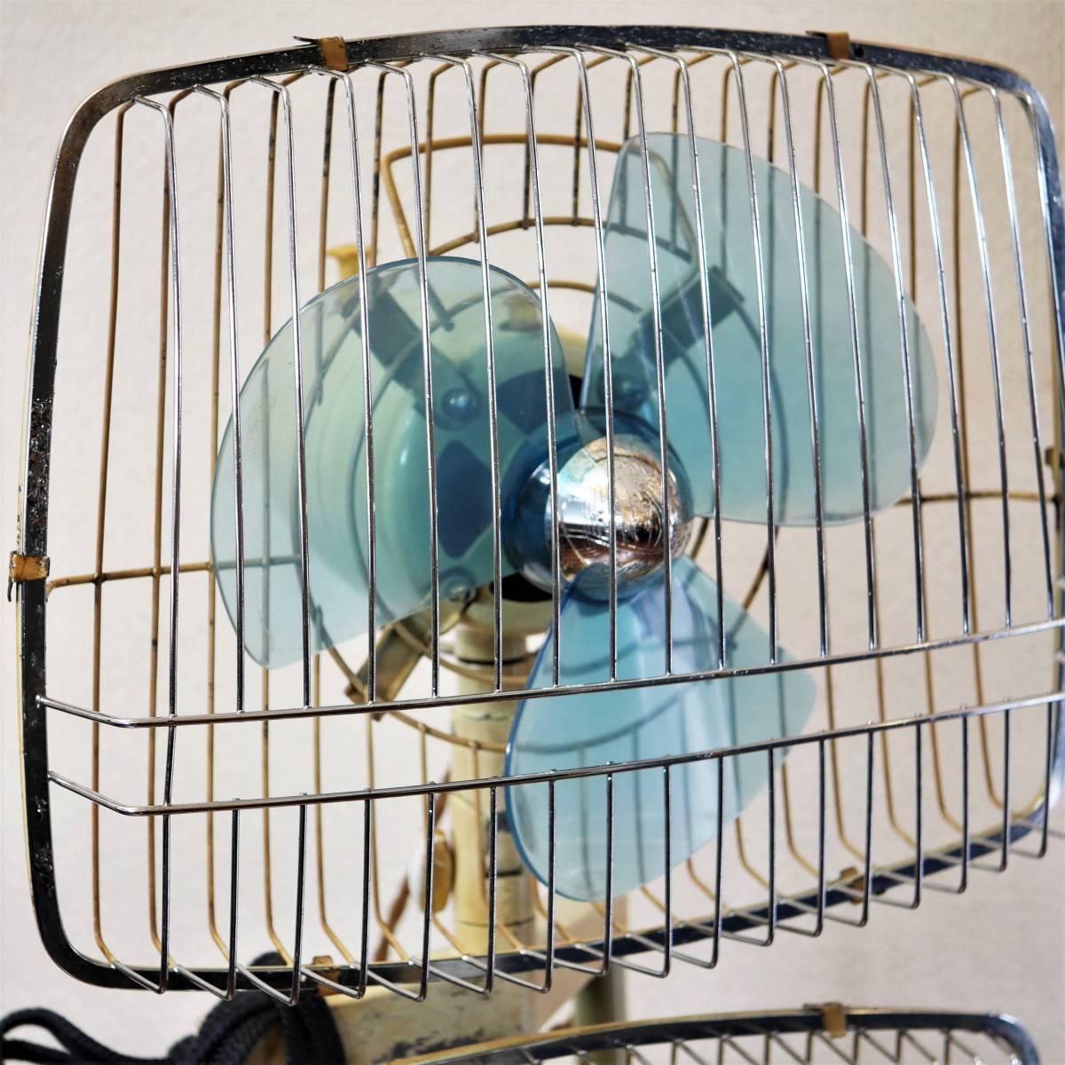 可動品!◆ FUJI 2連式 扇風機 希少 レトロ 当時物【Silent Pair】アンティーク_画像3