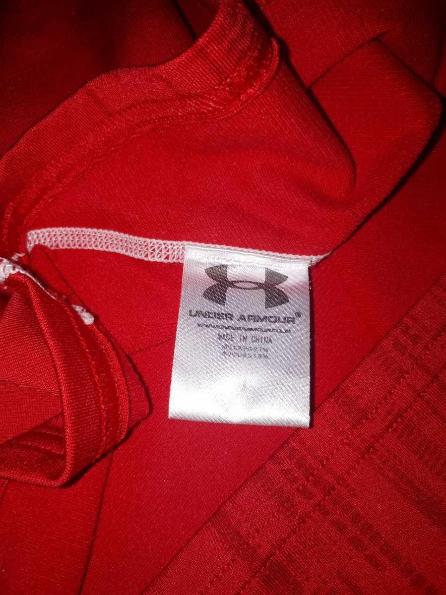 羽生結弦選手練習着用モデル アンダーアーマー SM 赤 コールドギアYUZURU HANYU スキー スノボー 長袖インナーシャツウーマン レディース