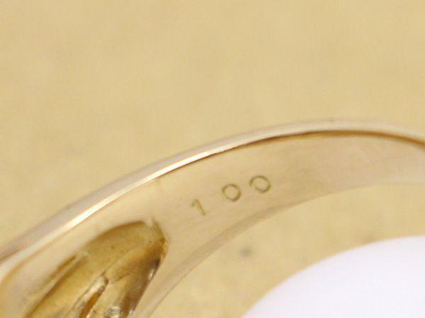 ダイヤ1.00ct K18 6.4g リング 18号 ユニセックス 美品_画像10