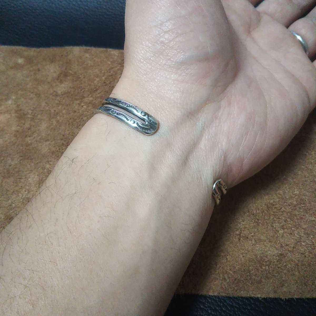 インディアンジュエリー ナバホ族 亀 ターコイズ シルバーバングル ブレスレット♯ネイティブアメリカン ホピ族 ズニ族 sterling silver925_画像8