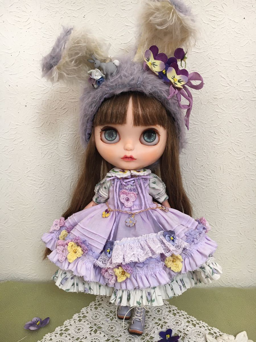 *Blythe outfit *すみれうさぎドレスセット**ayameya **