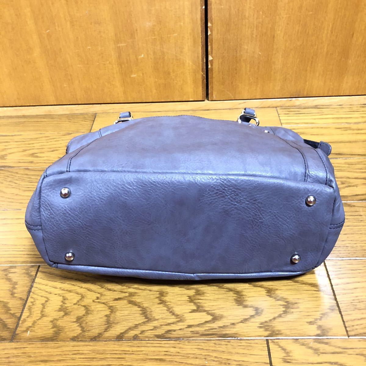 23区 革 バッグ ショルダーバッグ ハンドバッグ グレー トートバッグ