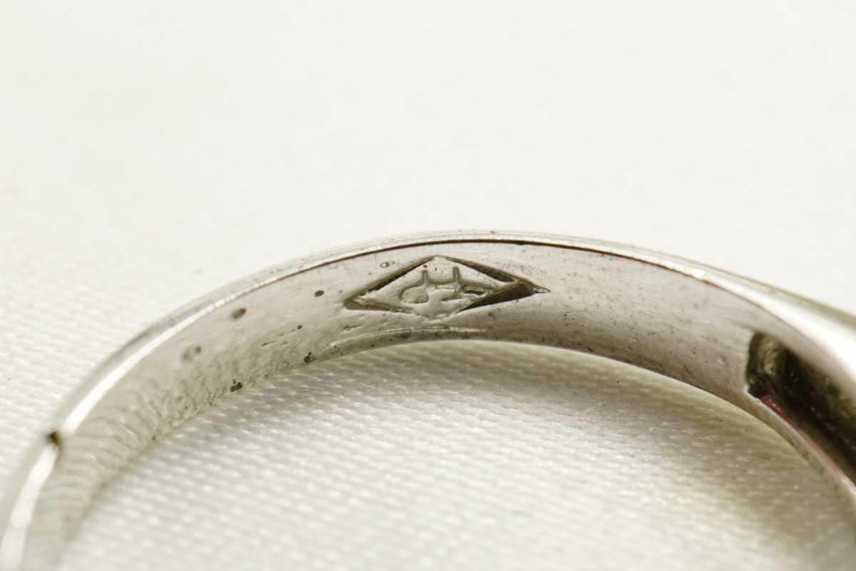 M13 天然サファイア ヴィンテージリング 指輪 アクセサリー 刻印 天然石 宝石 コランダム カラーストーン 色石 ビンテージ アンティーク_画像5